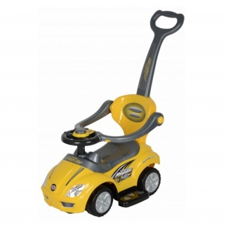 3 in 1 Ride On Push Car Stroller - yellow