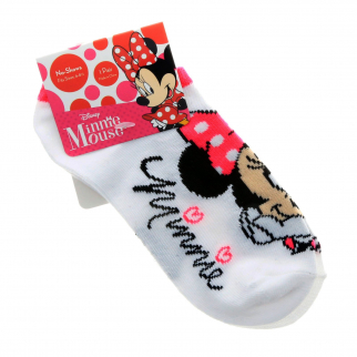 Disney Minnie Mouse Girls Ankle Socks Kids Clothing and Apparel - White Size 6-8