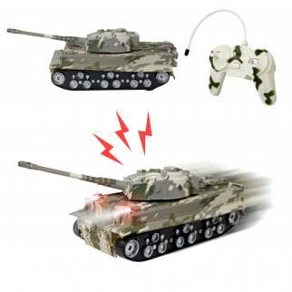 TychoTyke Kids RC Battle Tank Toy Vehicle Play Set Camo
