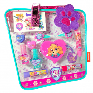 Paw Patrol Pup Power Girls Cosmetics Tote Bag Purse Kids Make Up Lip Gloss Gift