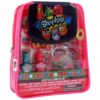 Shopkins Girls Cosmetic Makeup Set PVC Backpack