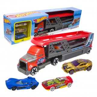Hot Wheels Cars Blasting Rig Vehicle Toy Play Set 3 Cars
