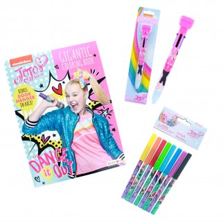 JoJo Siwa Girls Coloring Set Book and Stamper Pen