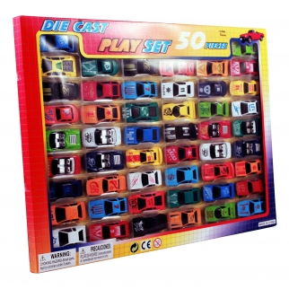 Diecast Retro Toy Car Collection 50pc Set Retail View