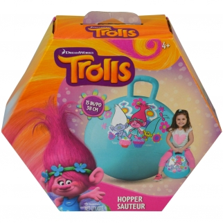In Box Boys or Girls Trolls Ride On Excercise Hopper Ball Toy with Princess Poppy and Pals