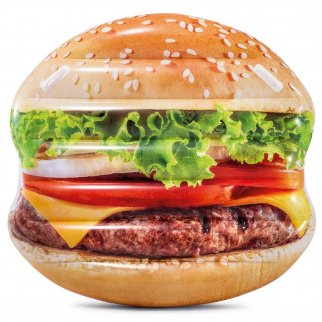 Universal Home 57in Inflatable Hamburger Swimming Pool Lounge Mat