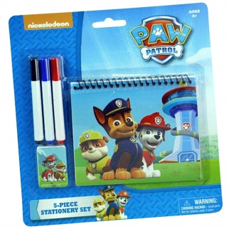 Nickelodeon Paw Patrol Personalized 5pc Stationary Set - In Packaging