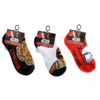 Star Wars Kids Ankle Socks Size 6-8 Boys Clothes Jedi Chewbacca Stormtrooper 3pk