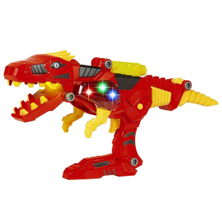 KidPlay T-Rex Battle Bot Dino Toy LIGHTS AND SOUND Dinosaur Blaster Space Gun
