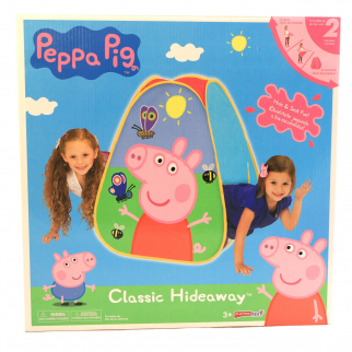 Peppa Pig Kids Indoor Creative Play Hideaway Fort Building Playhut