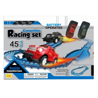 KidPlay Competition Racing Set Battery Operated 128 Inch Track