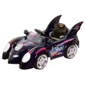 Licensed Batmobile 12V Kids Battery Powered Ride On Car in Black