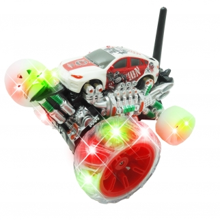 Light Up Cyclone Wheels Remote Control Stunt Car 360 Rotation