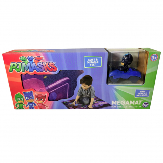 PJ Masks Kids Mega Mat Race Car Play Set - Cat Boy