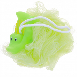 KidPlay Products - Rubber Animal Bath Scrubber - Green Alligator