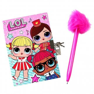 LOL Suprise Pom Pen and Diary with Lock