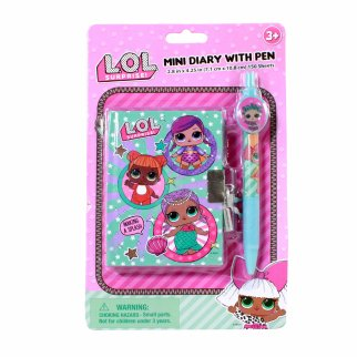 LOL Surprise Mini Locking Diary Journal Notebook Set and Pen