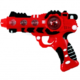 Intergalactic Superhero Laser Space Gun with Spinging LED Lights Sound - Red