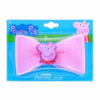 Peppa Pig Girls Hair Bow Clip with Sparkle Center