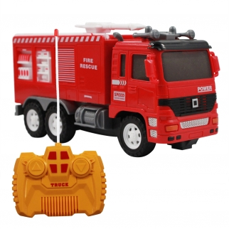 KidFun RC Fire Rescue Fire Truck Lights & Sounds - Red
