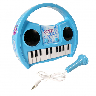KidPlay Products Little Pianist Singing Musical Karaoke Keyboard Lights Up Blue