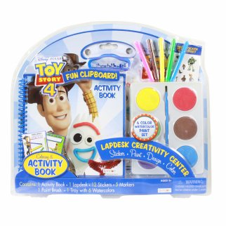 Disney Pixar Toy Story 4 Lapdesk Paint Coloring Stickers Set