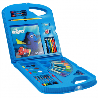 Deluxe Finding Dory Art Case with art pad, crayons, markers, watercolors, and more