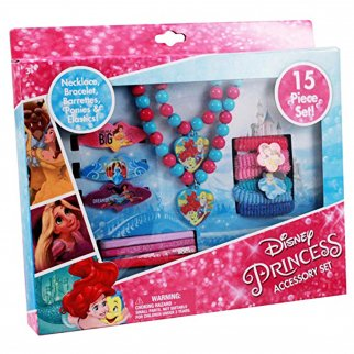 Disney Princess 15 PC Accessory Set Pretend Play Dress Up Jewelry Fantasy