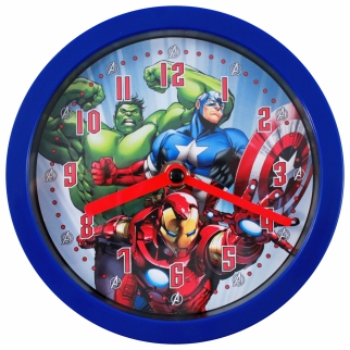 Marvel Avengers Dual-Function Tabletop Desk or Hanging Wall Analog Clock Kids Themed Bedroom Decor