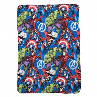 Marvel Avengers Plush Fleece Throw Blanket 45 x 60 Inch