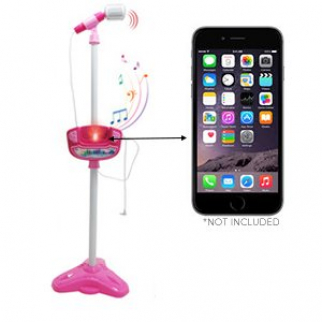 KidPlay Products Musical Childrens Battery Operated Karaoke With Pink Stand