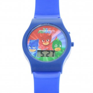 PJ Masks Boys LCD Wrist Watch Digital Style Adjustable Strap - Blue
