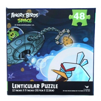 48pc Angry Birds Small 3D Lenticular Jigsaw Puzzle Stocking Stuffer