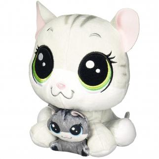 Littlest Pet Shop Tabsy Felino and Holiday Felino Soft Cat Kitten Plush  Pairs 2b3aa91b8b56