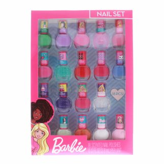 Mattel Barbie Girls Scented Nail Polish Gift 18pc