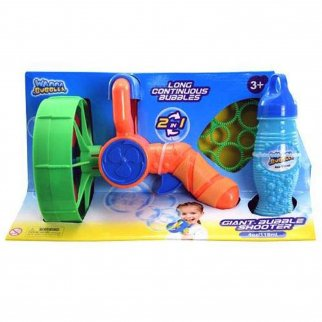 TychoTyke Electronic Giant Bubble Battle Shooter with Bottle of Bubbles Orange