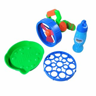 TychoTyke Electronic Giant Bubble Battle Shooter with Bottle of Bubbles Green