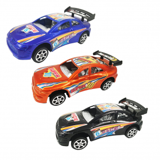 KidPlay Friction Powered Super Race Car Set Kids Toy Vehicles Blue Orange Black