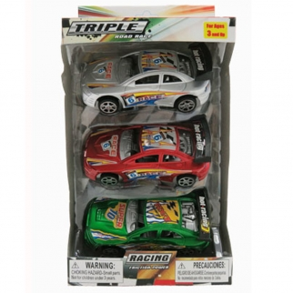 KidPlay Friction Powered Super Race Car Set - 3 Pack