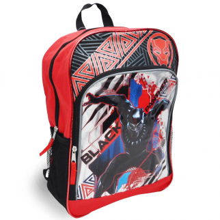 Marvel Black Panther 16 inch Large Cargo Red Backpack Reflective Stripes