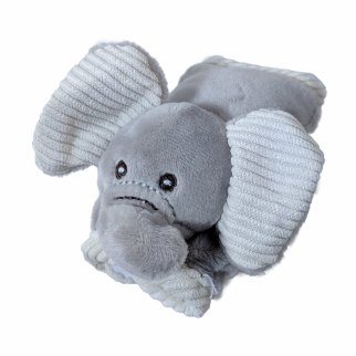 TychoTyke Baby Travel Elephant Seat Belt Covers Car Seat Grey with Corduroy Trim
