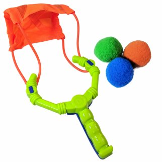 TychoTyke Aqua Storm Water Toy Ball Launcher Slingshot Pool Games 7 Piece Set