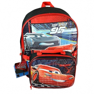 Cars 3 Backpack and Lunch Box Set Featuring Lightning McQueen