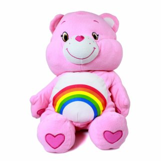 "Care Bears Cheer Bear 24"" Pillow Sized Fluffy Plush"