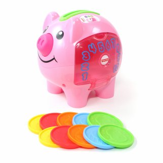Fisher Price Laugh and Learn Smart Stages Pink Piggy Bank