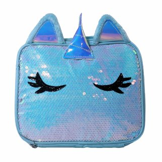 TychoTyke Sparkle Unicorn Girls Insulated Lunch Bag School Tote Sturdy Zipper