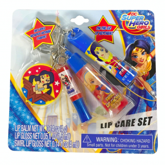 DC Super Hero Girls Wonder Woman Super Girl Harley Quinn Lip Gloss Key Chain