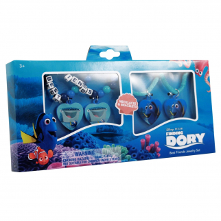 In Box Disney Dory and Destiny 2 Bracelets and 2 Necklaces Jewelry Set