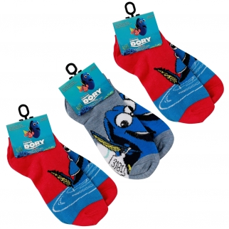 Red Just Keep Swimming Dory Disney Pixar Boys Girls Socks 3 Pack