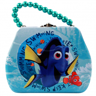 Disney Finding Dory Tin Purse Shaped Box with Pearl Handle & Clasp